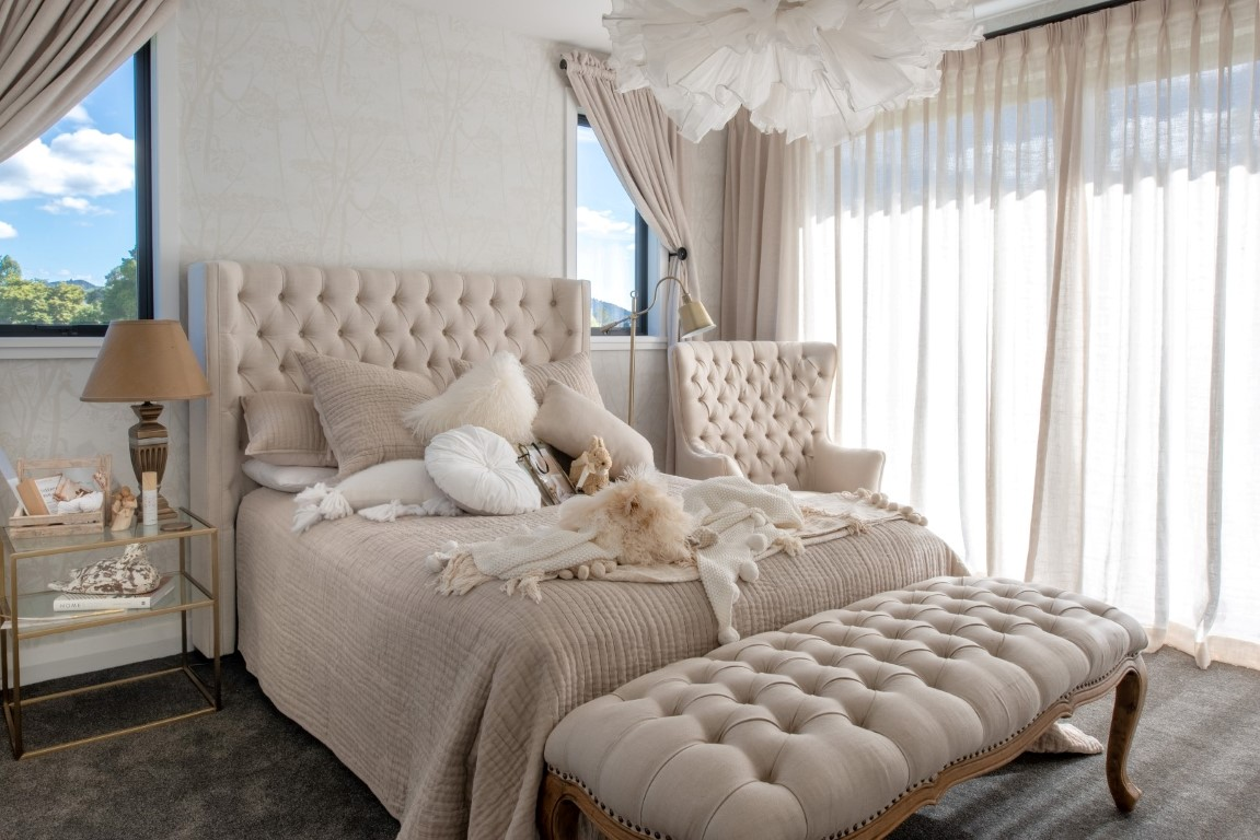 cream-bedroom-design-stylish-drapes-bedspread-cushions-lighting-bedside-table-arcline-architecture